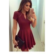 Vestido Marsala Ariane Ref 6197