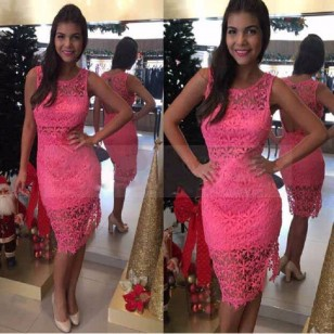 Vestido Renda Ref 6400