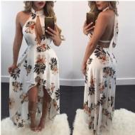 Vestido Abella Longo Floral Ref 6780