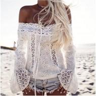 Blusa Crochet e Renda Ref 6791