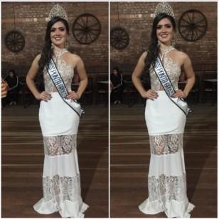 Vestido Longo Renda Luxo Festa Ref 6836
