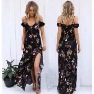 Vestido Longo Floral Ref 6992
