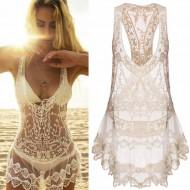 Vestido Saída de Praia Renda Ref 6873