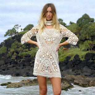 Vestido Saída de Praia Renda Ref 6891