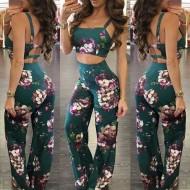 Conjunto Floral Aline Top e Saia Ref 6899