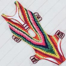 Biquini Maiô Body Etnico Estampado Ref 6909