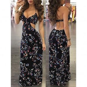 Vestido Longo Floral Ref 6915