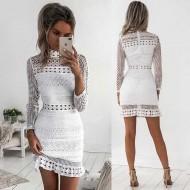 Vestido Branco Renda Ref 6931