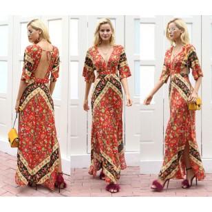 Vestido Longo Étnico Ref 7041