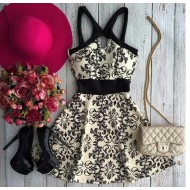 Vestido Etnico Rodado Ref 6678