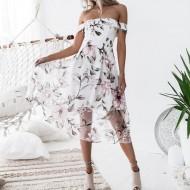 Vestido Floral Fernanda Ref 7139