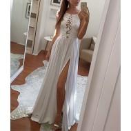 Vestido Longo com Fenda para Festas e Eventos Ref 7421