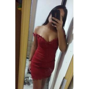Vestido Marsala com Gupuir Ref 6404