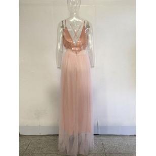 Vestido Madrinha Marsala Ref 6408