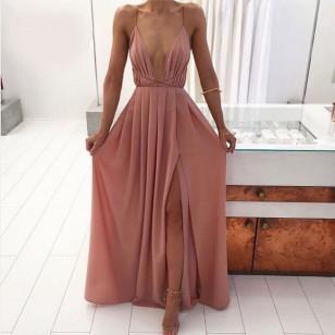 Vestido Longo com Fenda Ref 6630