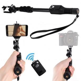 Bastão Retratil Yunteng com Controle Bluetooth e Suporte GoPro