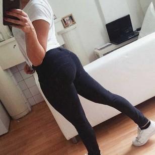 Calça Jeans Ergue Empina Bumbum Gluteos Ref 7307
