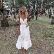 Vestido Reveillon 2019 Branco com Renda Ref 7406