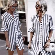 Camisa Feminina Listrada Ref 7117