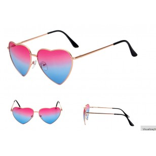 Óculos Blogueira com UV400 Coração Ref 7121