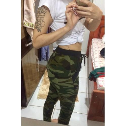 cf005a3df Calça Camuflada Verde Exército Feminina Ref 7491