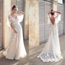 Vestido Pré Wedding Longo Renda Noivas Casamento Ref 7494