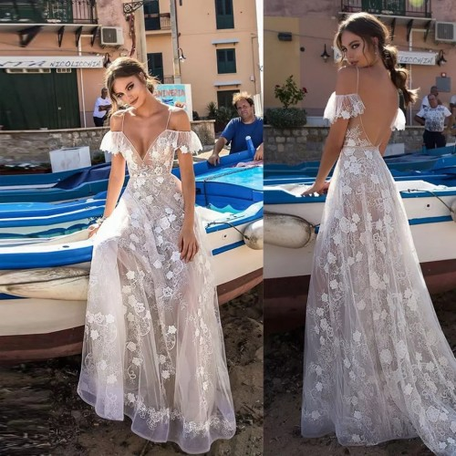 Vestido Pré Wedding Longo Renda Noivas Casamento Ref 7495
