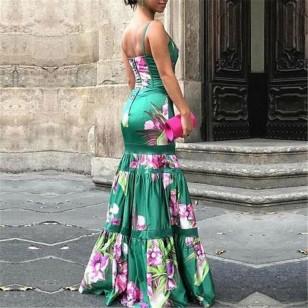 Vestido Longo Floral Coleção Nova 2019 Ref 7499