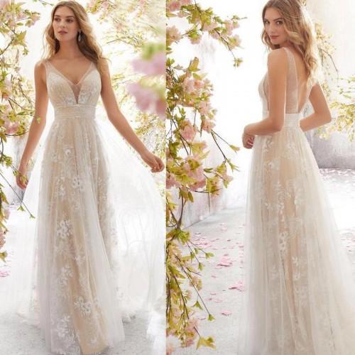 Vestido Pré Wedding Longo Renda Noivas Casamento Ref 71003