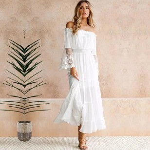 Vestido Branco Reveillon Pré Wedding Ref 7835