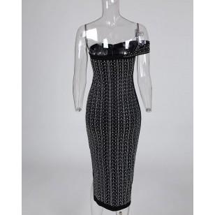 Vestido de Festa Com Pedrarias Linha Luxo Ref 7696