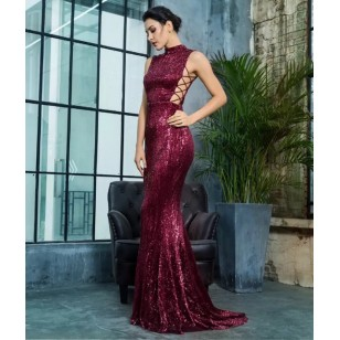 Vestido de Madrinha cor Marsala Ref 7872