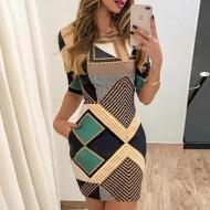 Vestido Super Tendência Moda 2020 Ref 7861