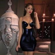 Vestido Noite Gala Balada Preto Ref 7863