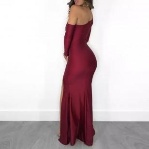 Vestido de Madrinha cor Marsala Ref 7871