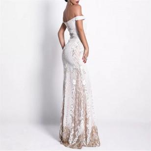 Vestido de Festa Bordado Longo Formatura Madrinhas Ref 7874