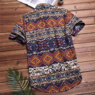 Camisa Masculina Étnica Casual Ref 7544