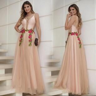 Vestido de Baile de Formatura Casamento Festa Ref 7518