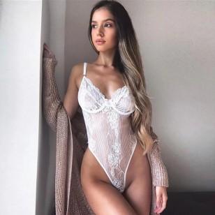 Body Feminino Casual Bojo Renda Neon Ref 7531