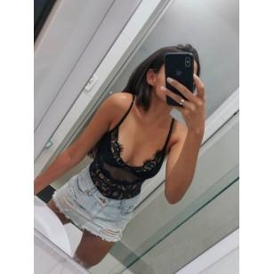 Body de Renda Moda Feminina 2019 Ref 7534