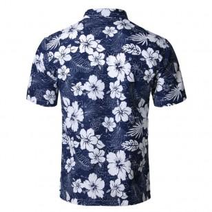 Camisa Masculina Floral Praia Ref 7543
