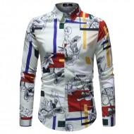 Camisa Masculina Manga Longa Ref 7545