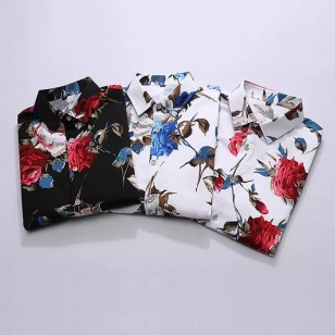 Camisa Masculina Floral Moda 2019 Ref 7547