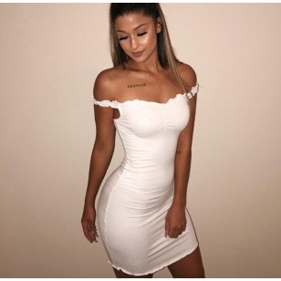Vestido Baladinha Preto ou Branco Ref 7575
