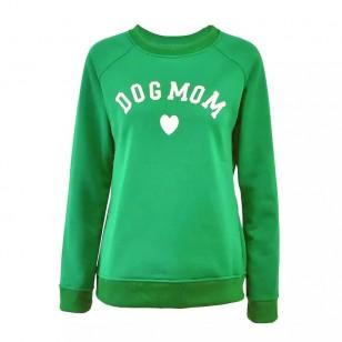 Moletom Escrita Dog Mom Mamãe de Cachorro Ref 7585