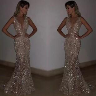 Vestido para Eventos e Festas Casamento Madrinha Ref 7588