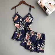 Baby Doll Conjunto de Pijama Floral Frete Grátis Ref 7603