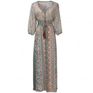 Vestido Longo Étnico Frete Grátis Ref 5789