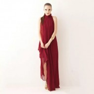 Vestido Marsala Chiffon Luxo Festa Formatura Ref 7615