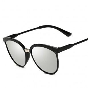 Óculos Preto com Lente Espelhada UV 400 Ref 7617